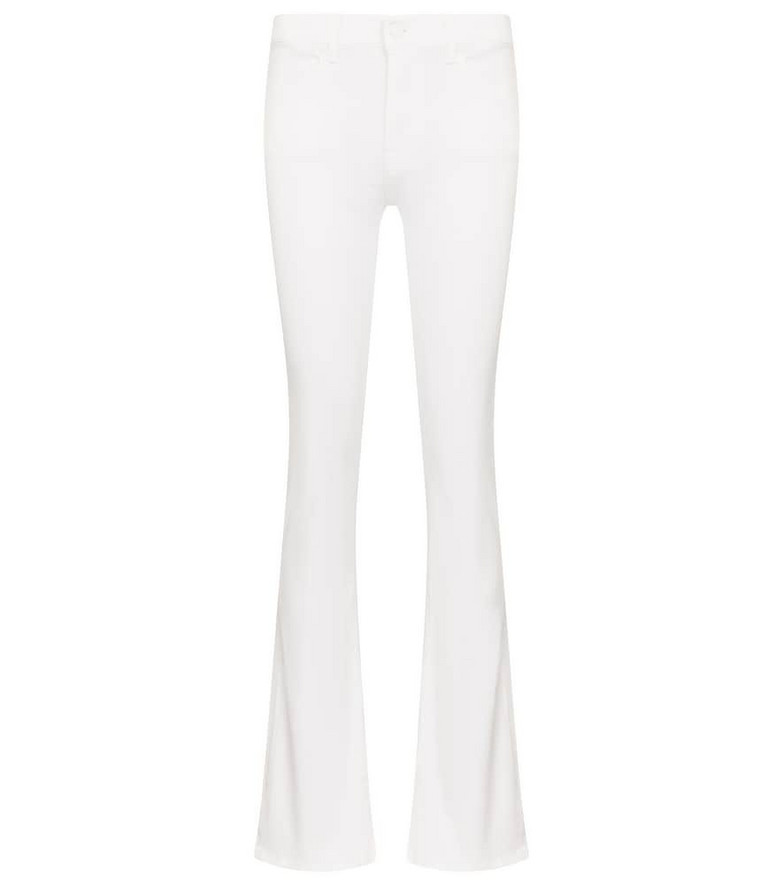 7 For All Mankind Mid-rise bootcut jeans in white