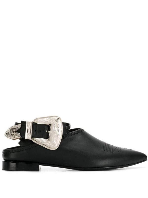 Toga Pulla buckle mules in black