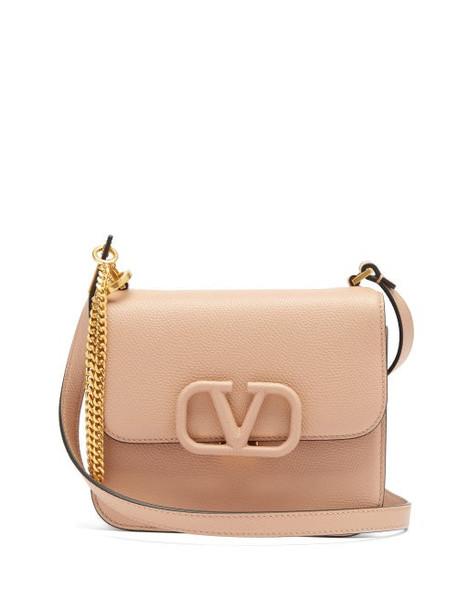 Valentino Garavani - V-sling Small Leather Shoulder Bag - Womens - Nude