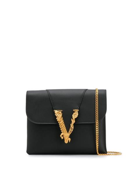 Versace Virtus crossbody bag in black
