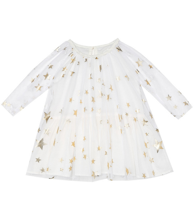 Stella McCartney Kids Baby tulle dress and bloomers set in white