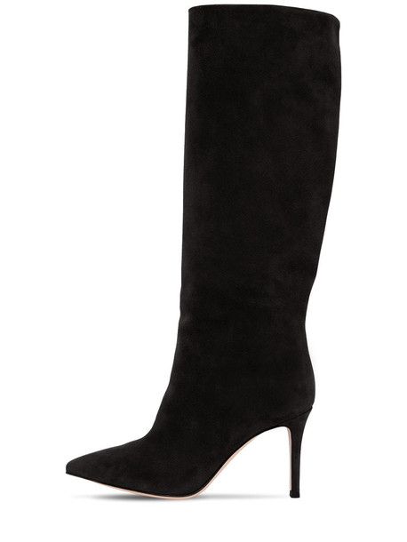 GIANVITO ROSSI 85mm Tall Suede Boots in black