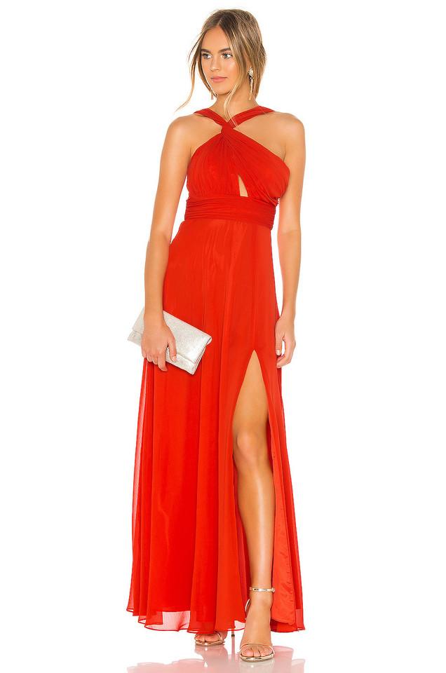 JILL JILL STUART Chiffon Gown in red