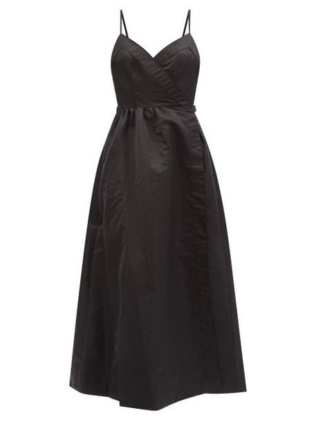 Staud - Sheffield Flared Nylon-gabardine Wrap Dress - Womens - Black