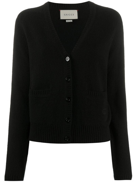 Gucci GG V-neck cardigan in black