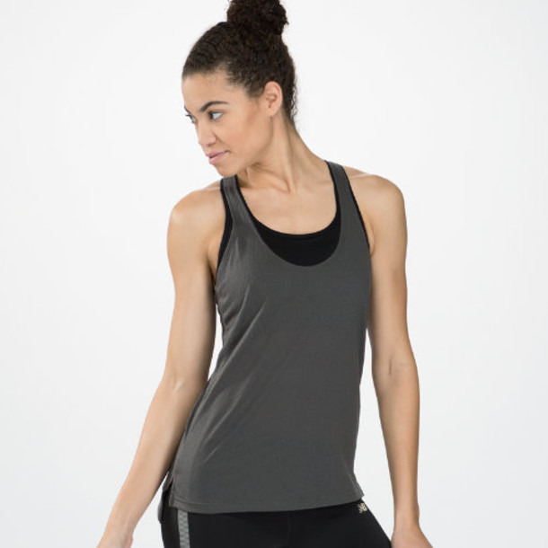 New Balance 4183 Women's Inspire Layering Tank - Magnet, Black (WFT4183MGT)