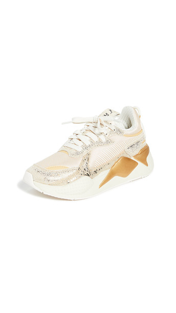 PUMA RS-X Winter Glimmer Sneakers in black / gold / white