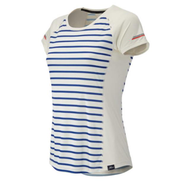 New Balance 63254 Women's J.Crew NB Ice Short Sleeve - Navy/White (WT63254UPS)