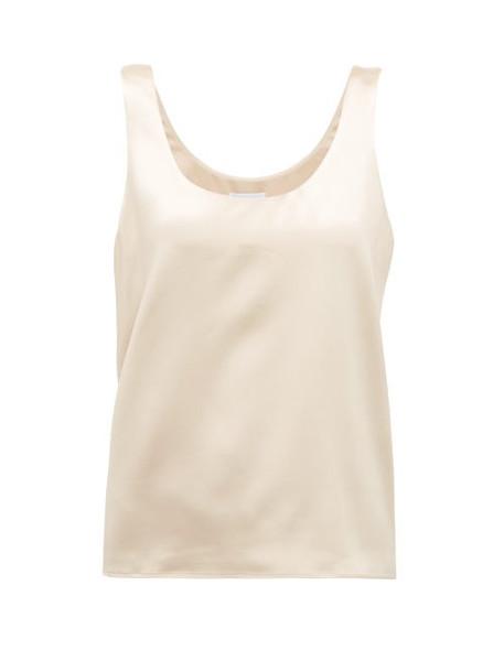 Raey - Scoop-neck Silk-satin Vest - Womens - Cream