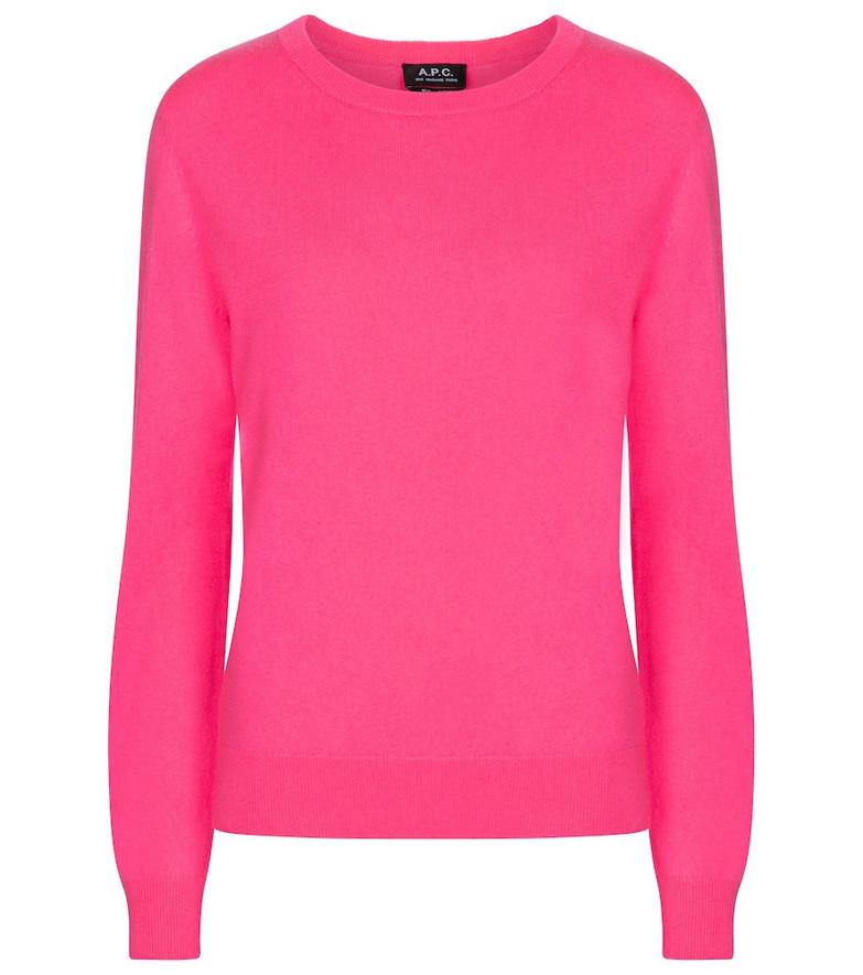 A.P.C. Nola cashmere sweater in pink