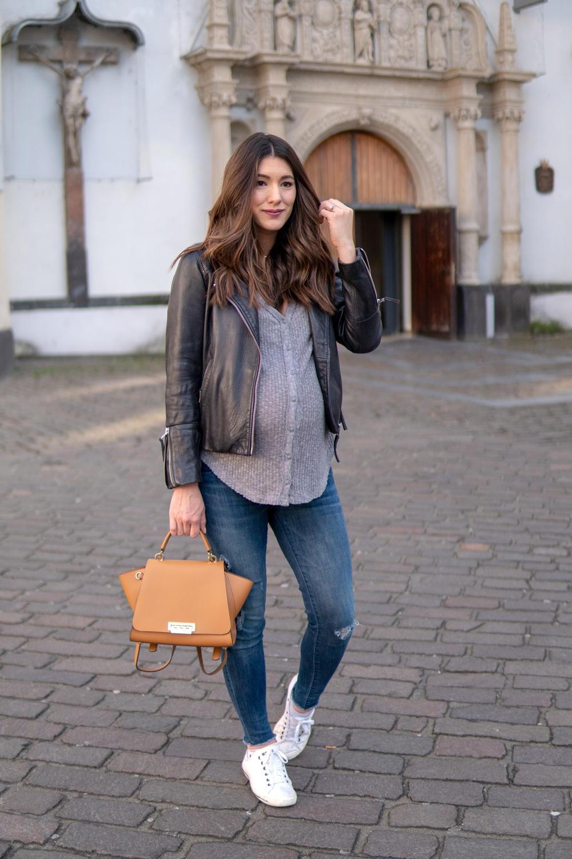 seekingsunshine blogger top jeans bag