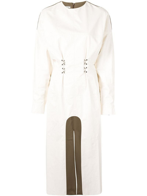 Boyarovskaya cut out dress in white