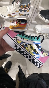 shoes,vans,old skool vans,womens vans,mickey mouse