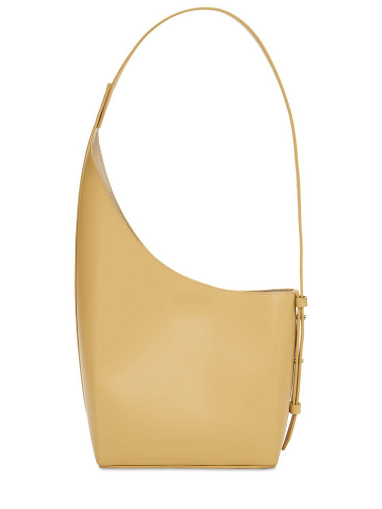 AESTHER EKME Demi Lune Smooth Leather Shoulder Bag