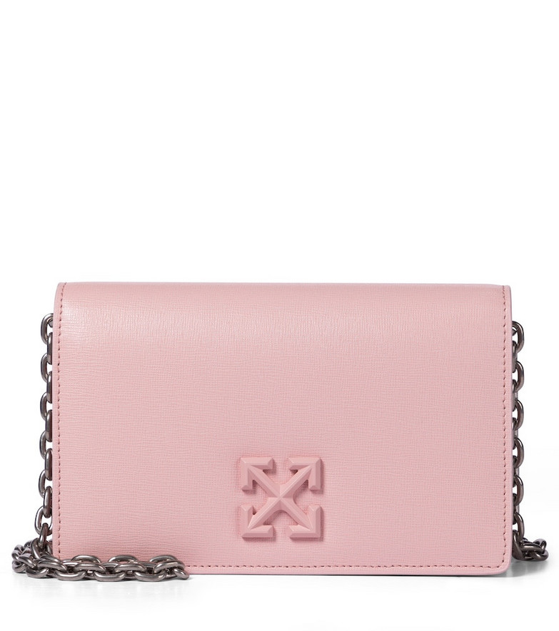 Off-White Jitney 0.5 leather shoudler bag in pink