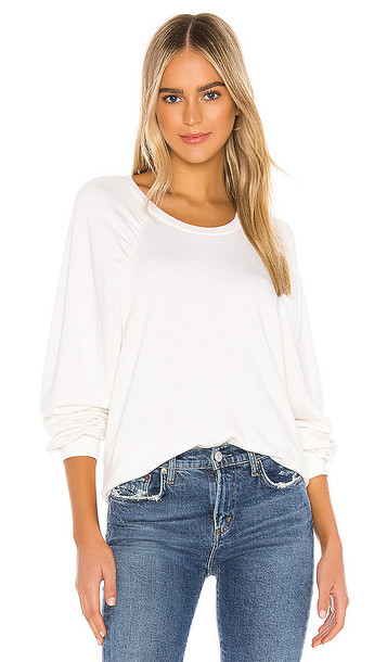 Michael Lauren Odin Sweatshirt in Ivory