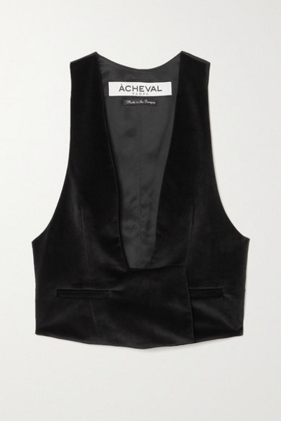 Àcheval Pampa Àcheval Pampa - Gardel Velvet And Satin Vest - Black