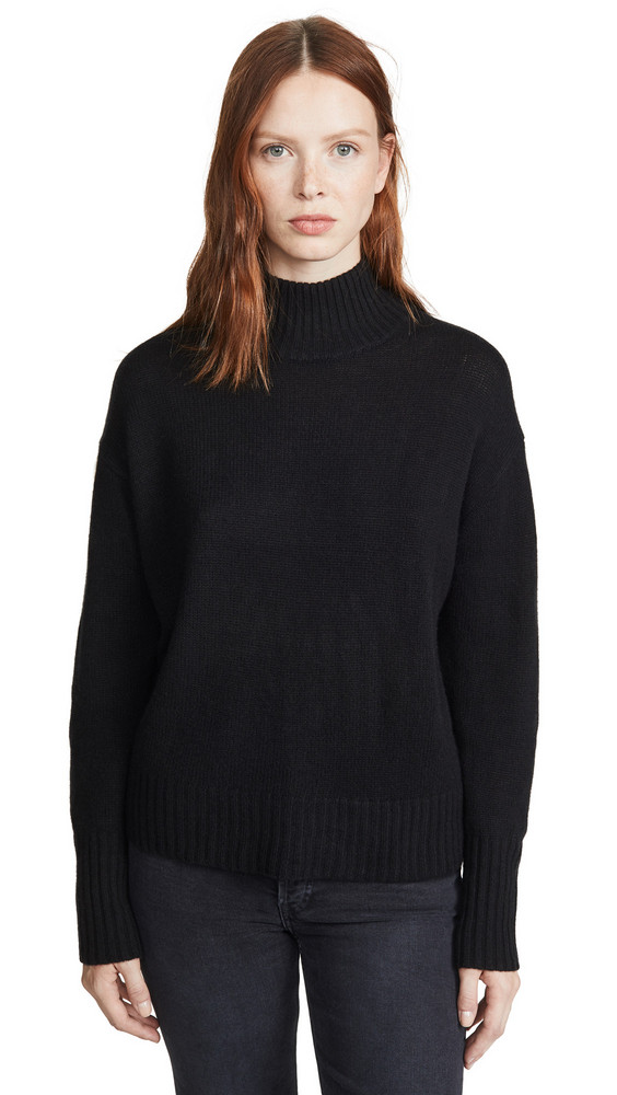 360 SWEATER Lyla Cashmere Sweater in black