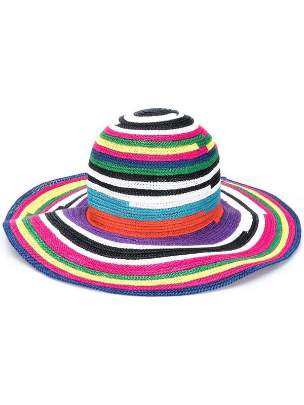 Missoni Mare woven striped sun hat in purple