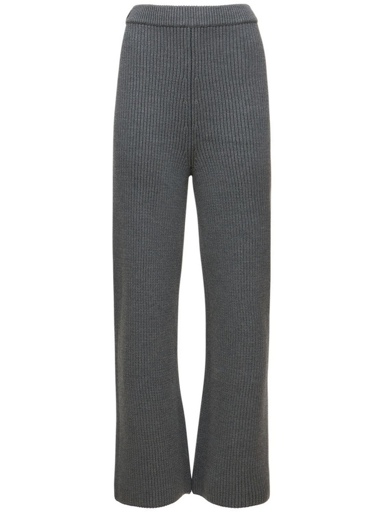 SAKS POTTS Maise Wool Knit Pants in grey