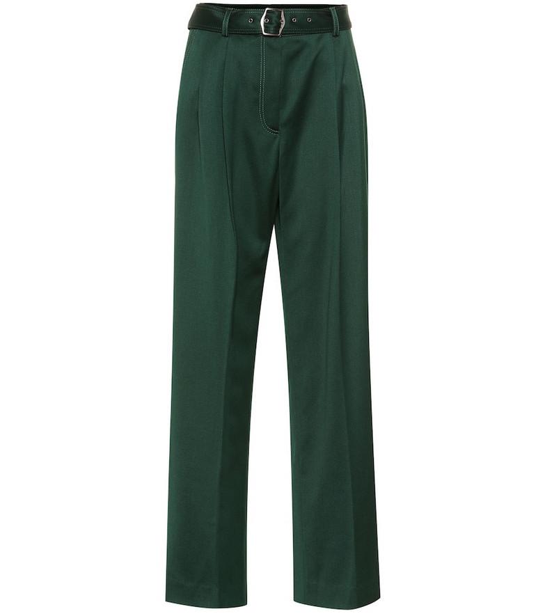 Sies Marjan Blanche wool-twill wide-leg pants in green