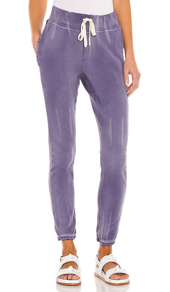 NSF Sayde Slouchy Slim Sweatpant in Purple in violet