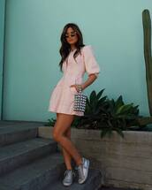 dress,rocky barnes,instagram,blogger,blogger style,sneakers,spring outfits,spring dress