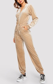 jumpsuit,girly,girl,girly wishlist,on point clothing,suede boots,velvet,zip