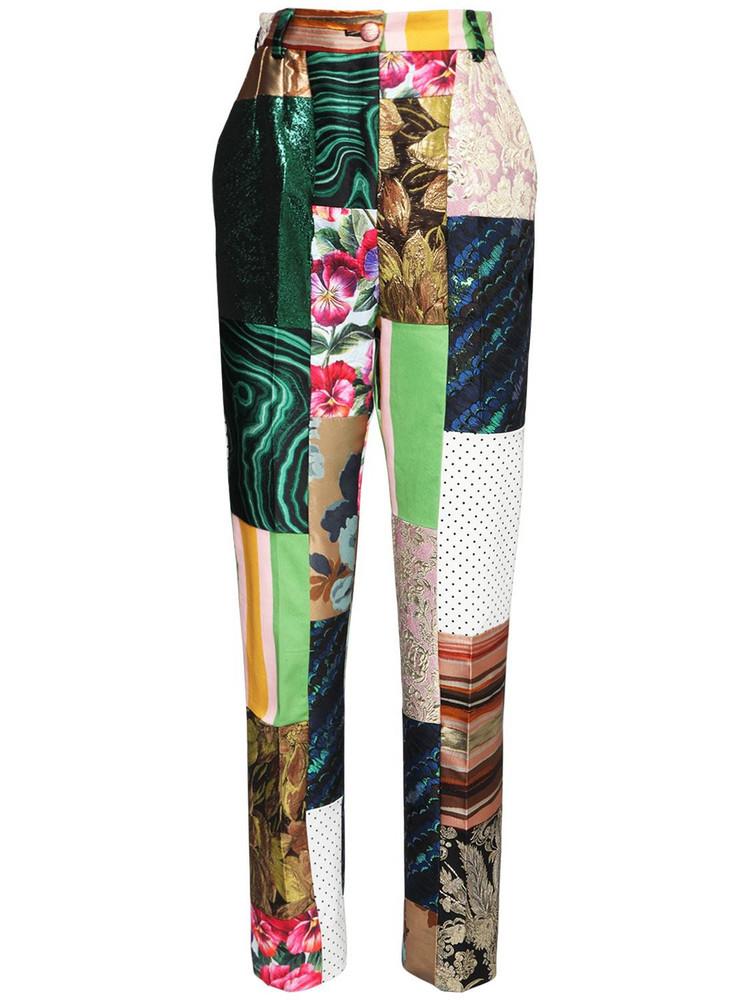 DOLCE & GABBANA Brocade Jacquard Patchwork Pants