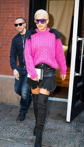 skirt,pink,sweater,rita ora,celebrity,spring outfits,mini skirt,boots