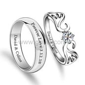 jewels,gullei,gullei.com,couple rings,promise rings,his and hers rings,personalized rings,anniversary rings,engagement ring,wedding rings,sterling silver rings,christmas gift for couples,birthday gift for girlfriend,anniversary gift for her,celebrity wedding rings