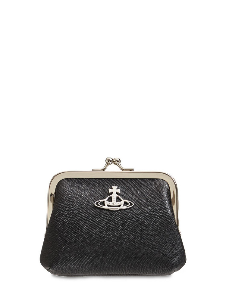 VIVIENNE WESTWOOD Derby Frame Faux Leather Coin Purse in black