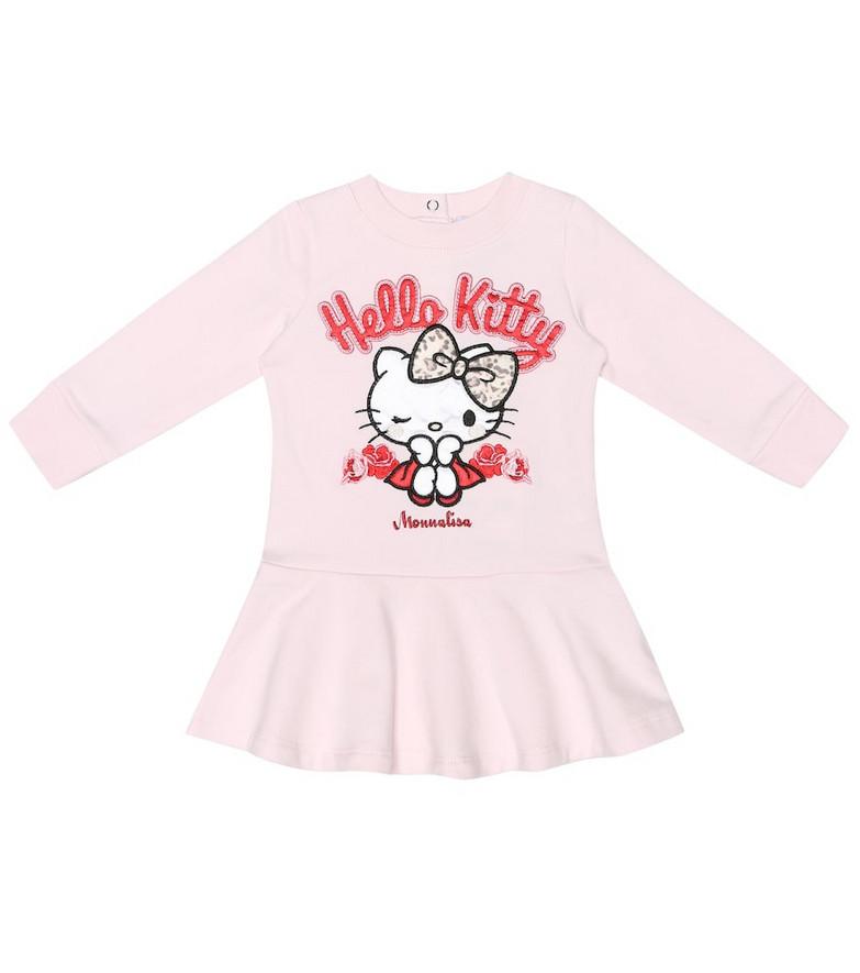 Monnalisa x Hello Kitty baby stretch-cotton dress in pink