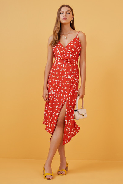 FINDERS KEEPERS MAE DRESS red daisy