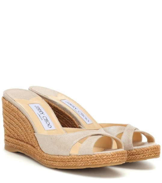 Jimmy Choo Almer 80 sandals in beige