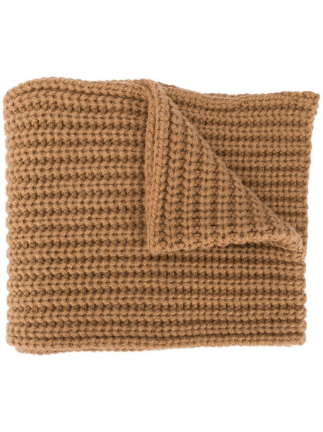 Dsquared2 knitted logo scarf in brown