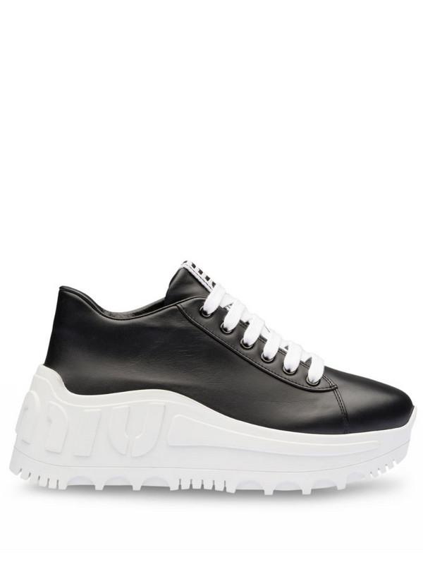 Miu Miu platform low-top sneakers in black