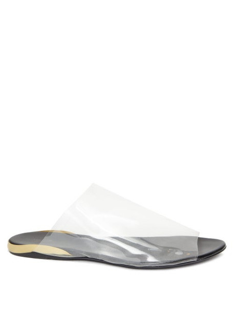 The Row - Pvc And Leather Sandals - Womens - Clear