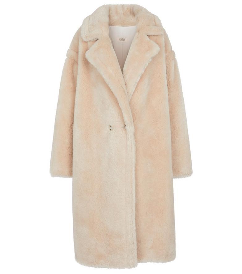 Yves Salomon Meteo wool coat in beige