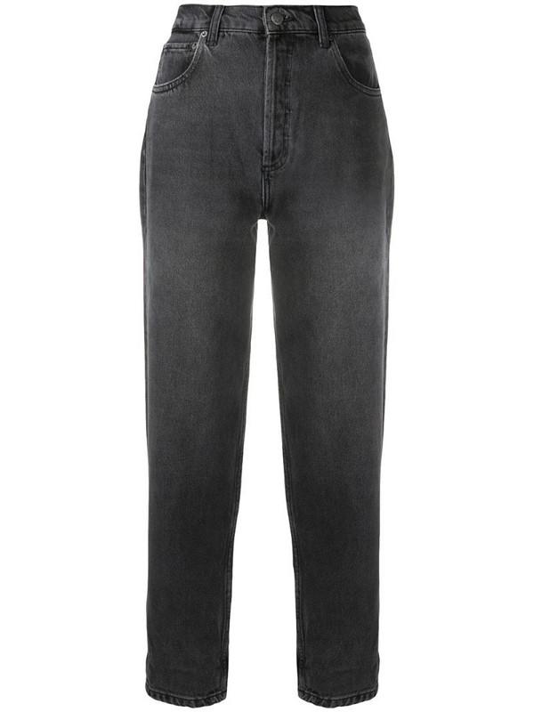 BOYISH DENIM high rise straight leg jeans in grey
