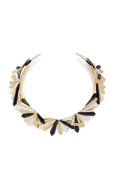 Colette Jewelry Exclusive 18K Yellow Gold Penacho Queen Necklace