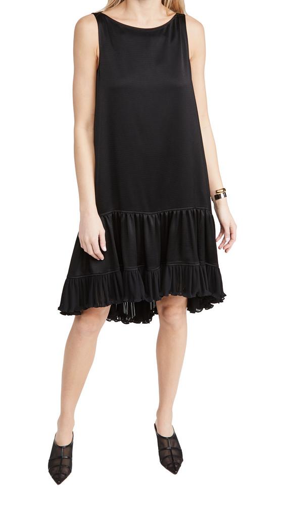 Adeam Pleated Parachute Dress in black