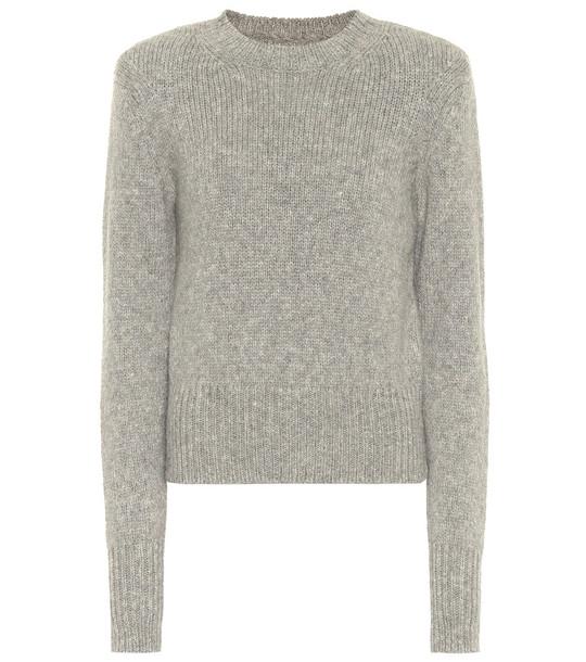 Isabel Marant Erwany wool and alpaca-blend sweater in grey