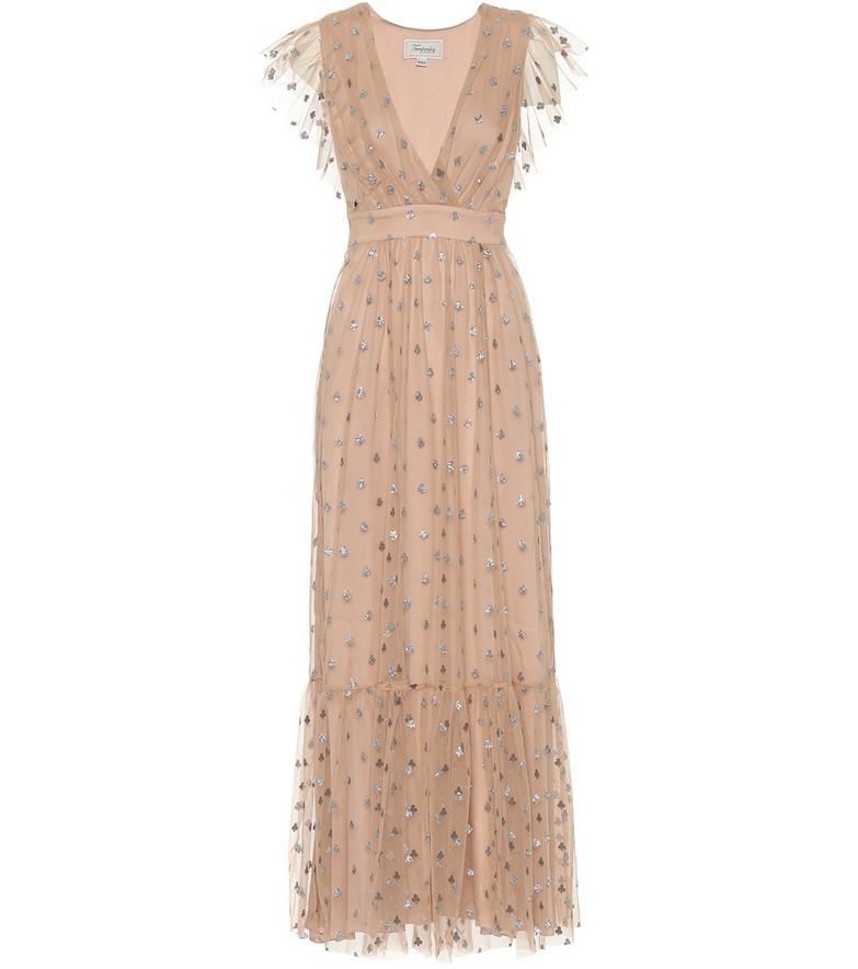 Temperley London Fortuna tulle dress in beige
