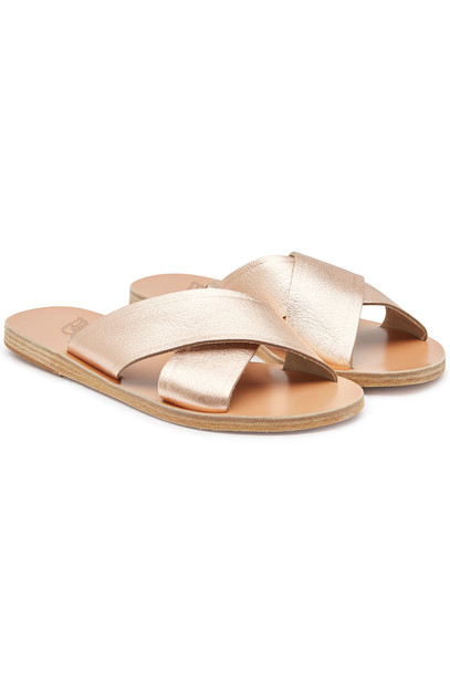 Ancient Greek Sandals Thais Leather Sandals  in pink