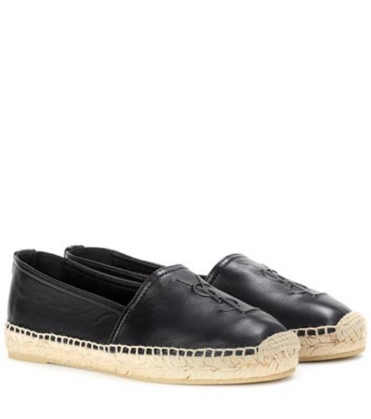 Saint Laurent Monogram leather slip-on loafers in black
