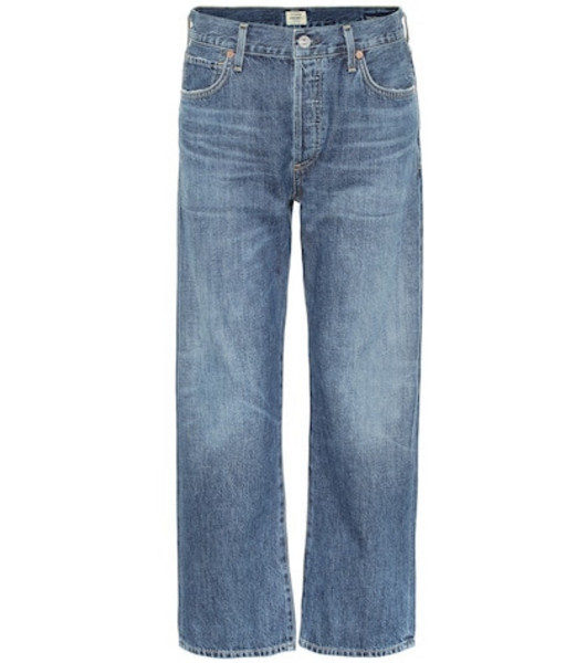 Citizens of Humanity Emery high-rise cropped jeans in blue