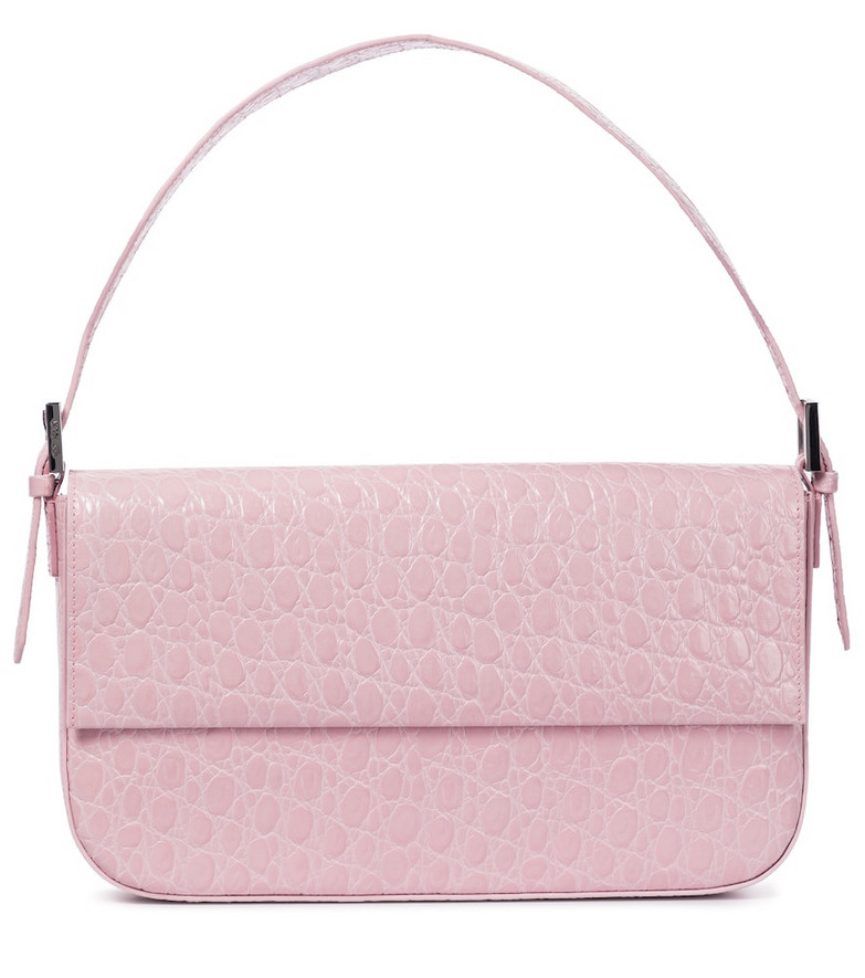 By Far Manu Small leather shoulder bag in pink
