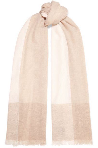 Loro Piana - Stola Fringed Color-block Cashmere Scarf - Neutral