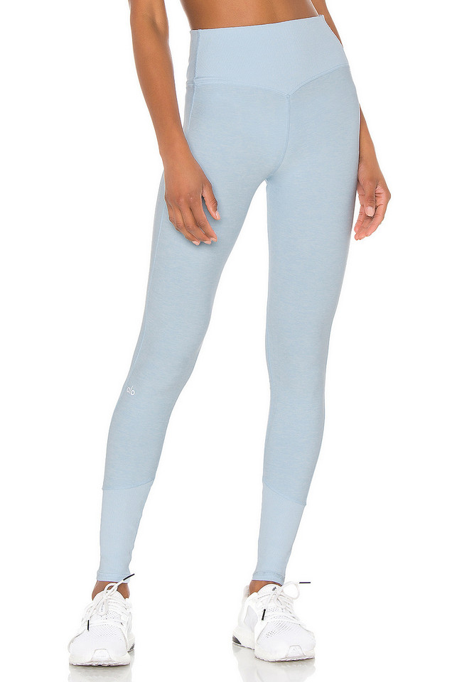 alo High Waist Lounge Legging in blue